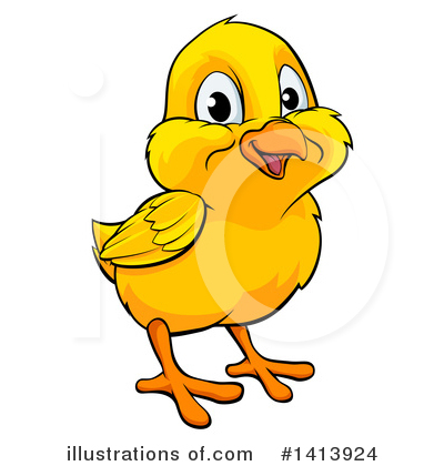 Chick Clipart #1413924 by AtStockIllustration