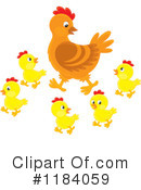 Chicken Clipart #1184059 by Alex Bannykh