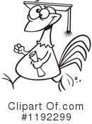 Royalty-Free (RF) Chicken Clipart Illustration #1192299