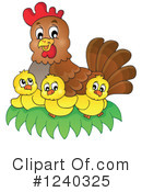 Royalty-Free (RF) Chicken Clipart Illustration #1240325
