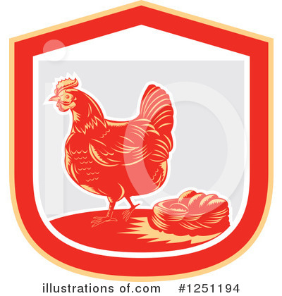 Royalty-Free (RF) Chicken Clipart Illustration by patrimonio - Stock Sample #1251194