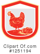 Royalty-Free (RF) Chicken Clipart Illustration #1251194