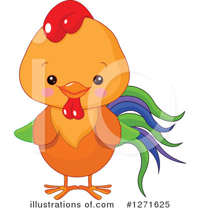 Royalty-Free (RF) Chicken Clipart Illustration by Pushkin - Stock Sample #1271625