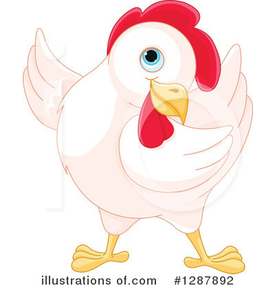 Royalty-Free (RF) Chicken Clipart Illustration by Pushkin - Stock Sample #1287892