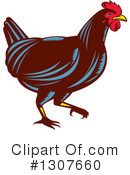 Royalty-Free (RF) Chicken Clipart Illustration #1307660