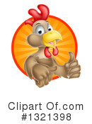 Royalty-Free (RF) Chicken Clipart Illustration #1321398