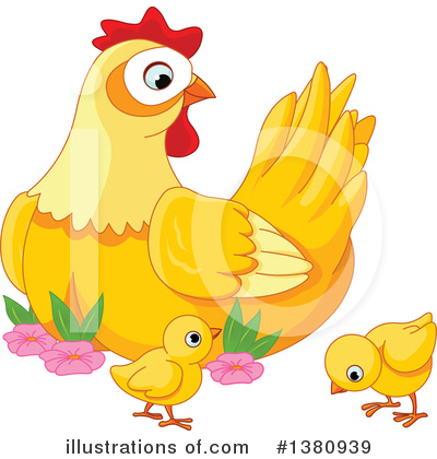 Royalty-Free (RF) Chicken Clipart Illustration by Pushkin - Stock Sample #1380939