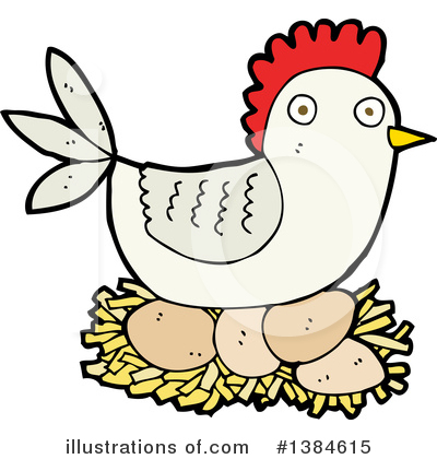 Royalty-Free (RF) Chicken Clipart Illustration by lineartestpilot - Stock Sample #1384615