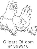 Royalty-Free (RF) Chicken Clipart Illustration #1399916
