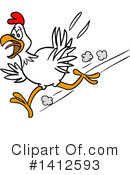 Chicken Clipart #1412593 by LaffToon