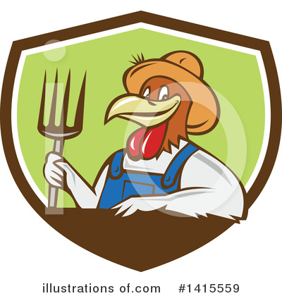 Royalty-Free (RF) Chicken Clipart Illustration by patrimonio - Stock Sample #1415559