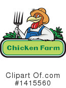 Chicken Clipart #1415560 by patrimonio