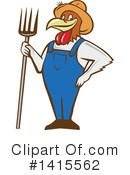 Royalty-Free (RF) Chicken Clipart Illustration #1415562
