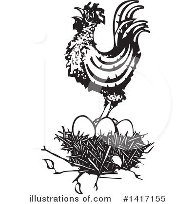 Royalty-Free (RF) Chicken Clipart Illustration by xunantunich - Stock Sample #1417155