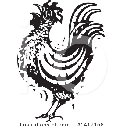 Royalty-Free (RF) Chicken Clipart Illustration by xunantunich - Stock Sample #1417158