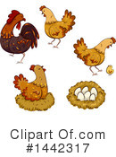 Royalty-Free (RF) Chicken Clipart Illustration #1442317