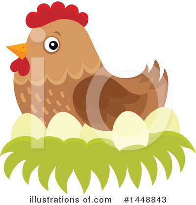 Chicken Clipart #1448843 by visekart