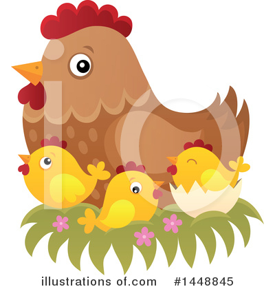 Chicken Clipart #1448845 by visekart