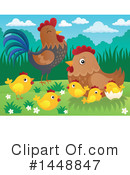 Royalty-Free (RF) Chicken Clipart Illustration #1448847