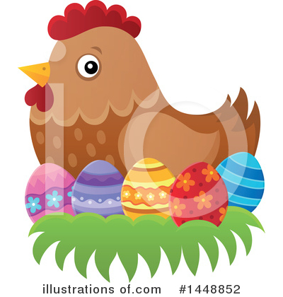 Chicken Clipart #1448852 by visekart