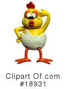 Royalty-Free (RF) Chicken Clipart Illustration #18931