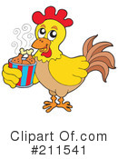 Royalty-Free (RF) Chicken Clipart Illustration #211541