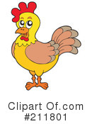 Royalty-Free (RF) Chicken Clipart Illustration #211801