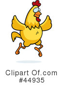 Royalty-Free (RF) Chicken Clipart Illustration #44935