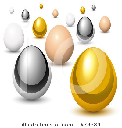Royalty-Free (RF) Chicken Egg Clipart Illustration by Oligo - Stock Sample #76589