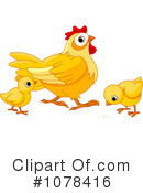 Royalty-Free (RF) Chickens Clipart Illustration #1078416