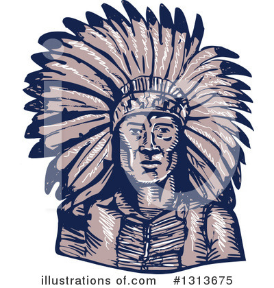 Native American Clipart #1313675 by patrimonio