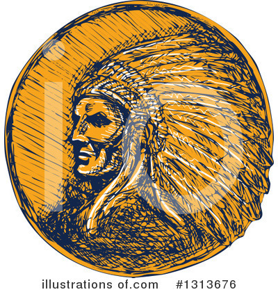 Native American Clipart #1313676 by patrimonio