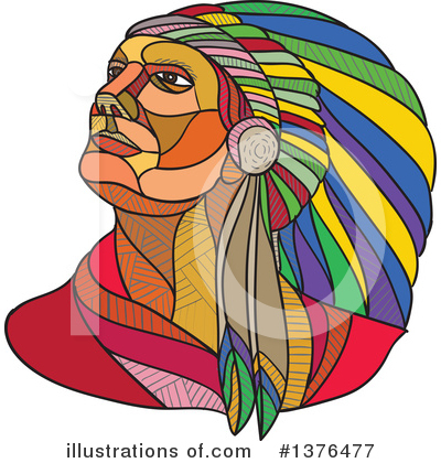 Native American Clipart #1376477 by patrimonio