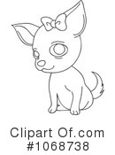 Royalty-Free (RF) Chihuahua Clipart Illustration #1068738