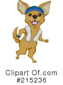 Royalty-Free (RF) Chihuahua Clipart Illustration #215236