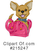 Royalty-Free (RF) Chihuahua Clipart Illustration #215247
