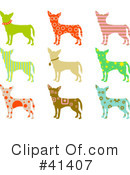 Royalty-Free (RF) Chihuahua Clipart Illustration #41407