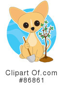 Royalty-Free (RF) Chihuahua Clipart Illustration #86861