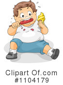 Royalty-Free (RF) Child Obesity Clipart Illustration #1104179