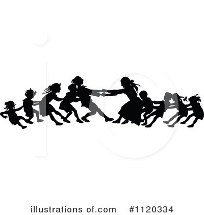 Tug Of War Clipart #1120334 by Prawny Vintage