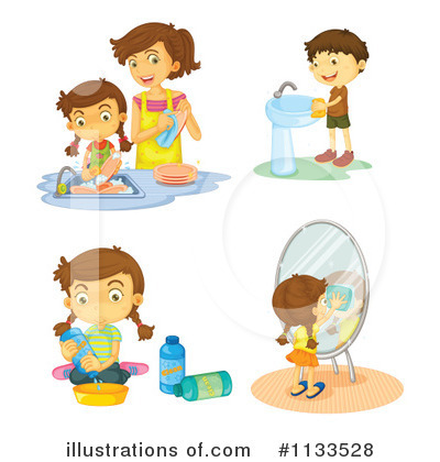 Dishes Clipart #1133528 by Graphics RF