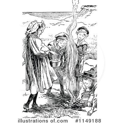 Campfire Clipart #1147653 - Illustration by Prawny Vintage
