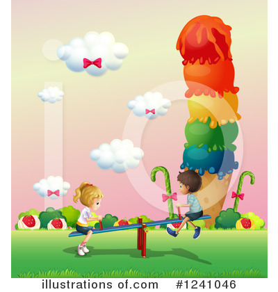 Teeter Totter Clipart #1241046 by Graphics RF