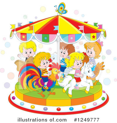 Carousel Clipart #1249777 by Alex Bannykh