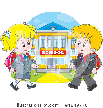 School Girl Clipart #1249778 by Alex Bannykh