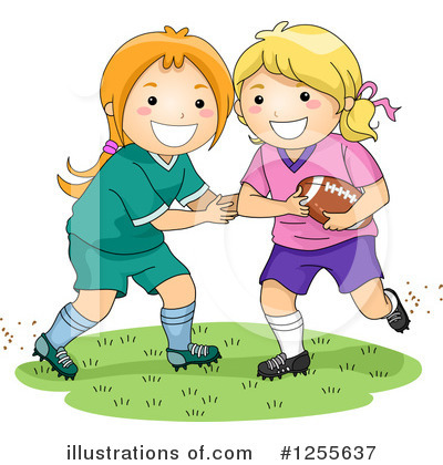 Football Clipart #1255637 by BNP Design Studio