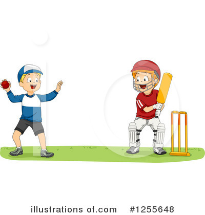 Cricket Player Clipart #1255648 by BNP Design Studio