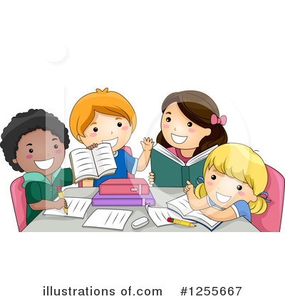 Homework Clipart #1255667 by BNP Design Studio