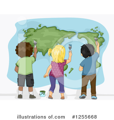 Map Clipart #1255668 by BNP Design Studio