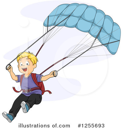 Parachute Clipart #1255693 by BNP Design Studio